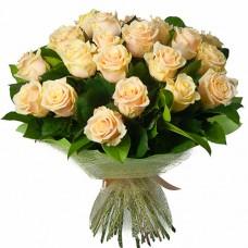 23 кремовые розы