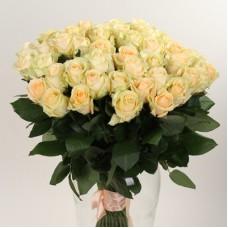 23 персиковые розы