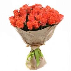 23 коралловые розы