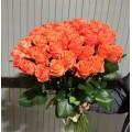 35 коралловых роз